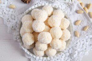 raffaello ed 5 300x200 Three Ingredient Homemade Raffaello Coconut Almond Balls