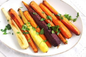 roasted carrots 300x200 The Easiest Recipe for Whole Roasted Carrots with Olive Oil