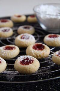 thumbprint cookies ed 2 200x300 Easy Five Ingredient Thumbprint Cookies with Jam