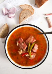 bean soup 1 213x300 White Bean Soup with Smoked Spare Ribs and Tarragon