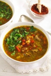 beef lentil soup 1 von 5 200x300 Spicy Yellow Split Lentils and Beef Soup with Vegetables