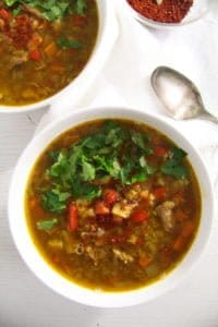 beef lentil soup 2 von 5 200x300 Spicy Yellow Split Lentils and Beef Soup with Vegetables