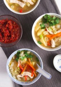 chinese soup 2 213x300 Healthy Potato and Turkey Soup with Napa Cabbage