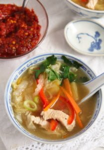 chinese soup 4 209x300 Healthy Potato and Turkey Soup with Napa Cabbage