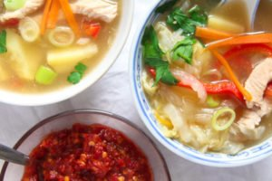 chinese soup 5 300x200 Healthy Potato and Turkey Soup with Napa Cabbage