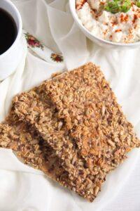 crisp bread 8 200x300 Easy Multi Seed Crispbread with Oats and Spelt Flour