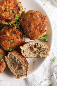 mushroom stuffed meatballs 2 200x300 Skillet Mushroom Stuffed Meatballs with Herbs – Polish Recipe