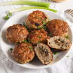 mushroom stuffed meatballs 4 150x150 Skillet Mushroom Stuffed Meatballs with Herbs – Polish Recipe