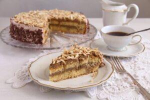 polish almond cake 7 300x200 Almond Cake with Coffee Caramel Buttercream – Polish Tort Migdalowy