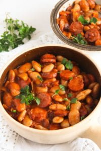 polish beans 2 200x300 Easy White Bean and Cabanossi Sausage Stew – Polish Recipe