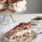 slice of polish cake with meringue