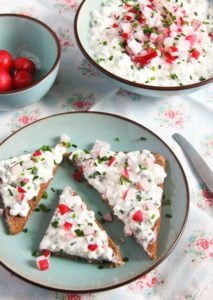 polish cheese spread 7 213x300 Polish Cottage Cheese Spread with Chives and Radishes