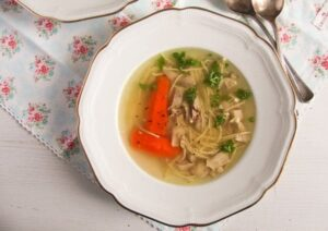 polish chicken soup 3 300x212 Basic Homemade Chicken and Vegetable Soup Recipe