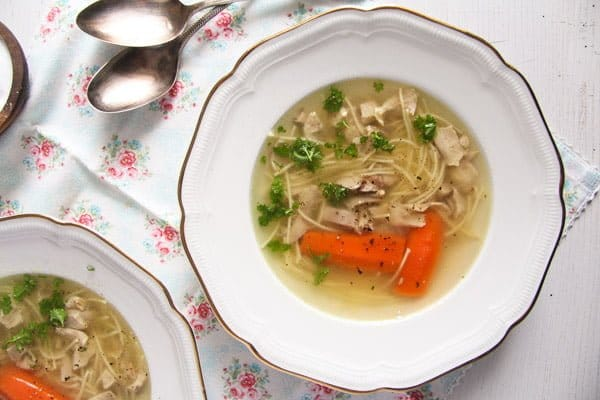 Basic Homemade Chicken and Vegetable Soup Recipe