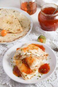 polish crepes 3 200x300 Polish Crepes with Sweet Quark Cheese Filling – Nalesniki