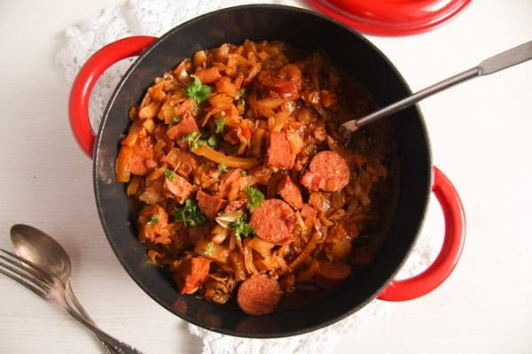 Sauerkraut Stew with Pork and Sausages – Polish Bigos Recipe