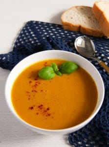 sweet potato soup 1 223x300 Sweet Potato Soup with Coconut Milk and Ginger