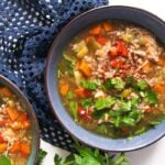 turkey buckwheat soup 1 150x150 Healthy Turkey or Chicken Buckwheat Soup with Vegetables