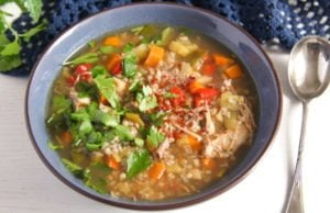 turkey buckwheat soup 2 300x194 Healthy Turkey or Chicken Buckwheat Soup with Vegetables