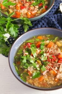 turkey buckwheat soup 3 200x300 Healthy Turkey or Chicken Buckwheat Soup with Vegetables