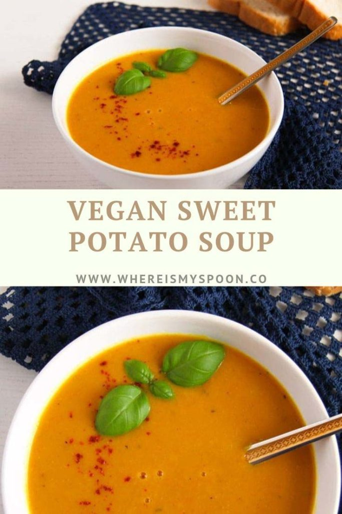 vegan sweet potato soup 1 683x1024 Vegan Sweet Potato Soup with Coconut Milk