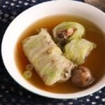cabbage rolls asian 5 150x150 Asian Stuffed Napa Cabbage Leaves in Chicken Ginger Broth