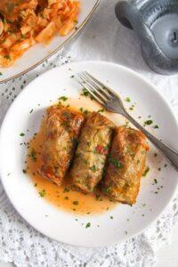cabbage rolls rice 1 200x300 Vegan Sauerkraut Rolls with Rice, Walnuts and Raisins