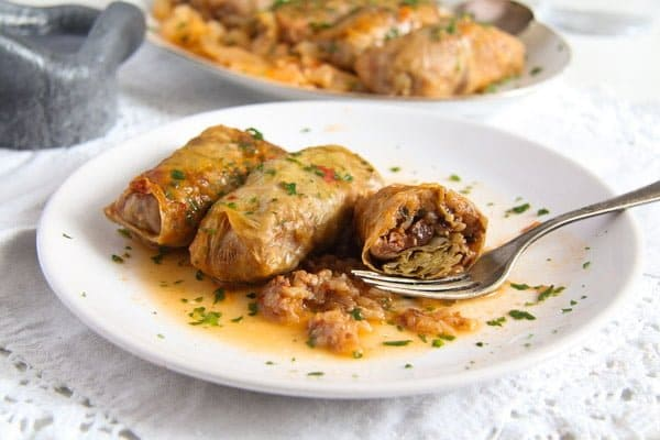 cabbage rolls rice 5 Vegan Sauerkraut Rolls with Rice, Walnuts and Raisins