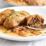 cabbage rolls rice 6 1 150x150 Vegan Sauerkraut Rolls with Rice, Walnuts and Raisins