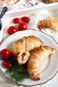 croissants ham and cheese 1 200x300 Easy Ham and Cheese Puff Pastry Croissants with Sesame Seeds