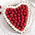 heart cheesecake 4 150x150 Heart Shaped Cheesecake with Raspberries and Whipped Cream