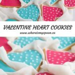 decorated valentine sugar cookies with dots