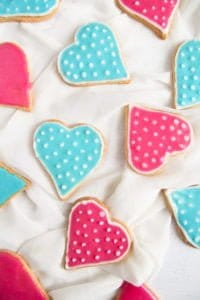 heart cookies 2 200x300 Easy Heart Shaped Butter Cookies with Flood Icing