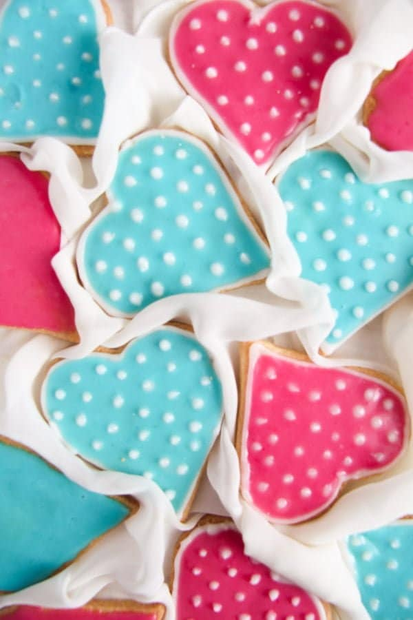heart cookies 3 Valentine Sugar Cookies