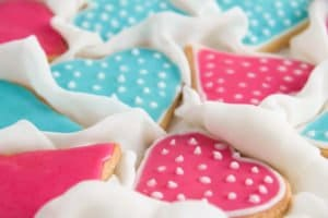 heart cookies 5 300x200 Easy Heart Shaped Butter Cookies with Flood Icing
