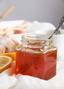 lemon jelly 3 215x300 Delicious Jelly with Fresh Lemon and Clementine Juice