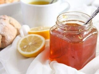 jar of fresh lemon jelly