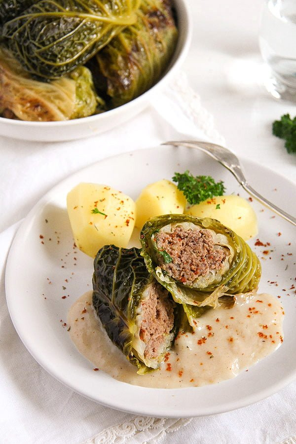 German Stuffed Savoy Cabbage With Minced Meat