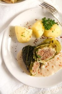 savoy cabbage rolls 2 200x300 Easy Stuffed Savoy Cabbage with Minced Meat – German Recipe