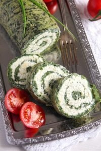 spinach roll 4 200x300 Spinach Roll with Cottage Cheese, Gouda and Herbs