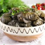 vine leaves cheese 3 150x150 Stuffed Vine Leaves with Ricotta, Rice and Herb Filling