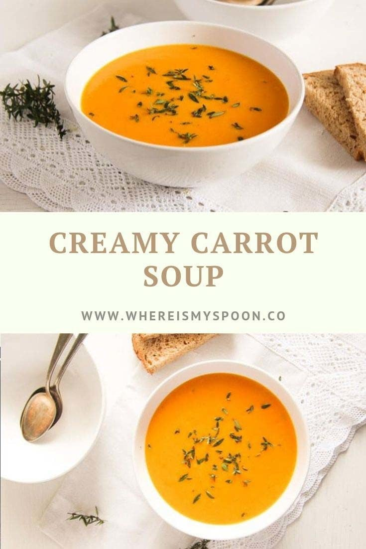 , Creamy Carrot Soup with Milk