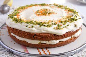 carrot orange cake 2 300x200 Carrot Cake with Almonds and Orange Juice Filling