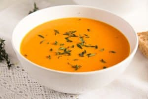 romanian carrot soup with milk