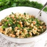 herbed bulgur 4 150x150 Vegan Bulgur Wheat Salad with Chickpeas and Herbs