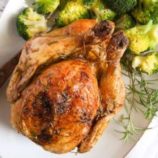 crispy baked chicken with rosemary