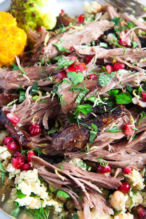 lamb 5 Pulled Lamb with Pomegranate Mint Yogurt