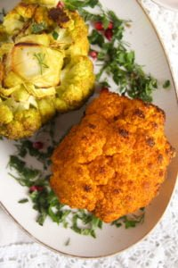 roasted cauliflower 4 200x300 Simple and Spicy Whole Roasted Cauliflower