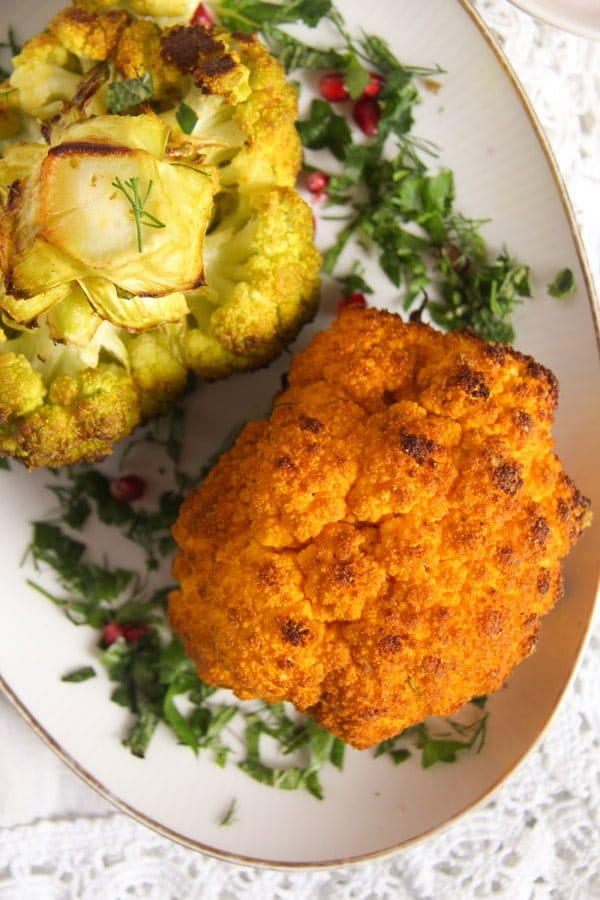 roasted cauliflower 4 Simple and Spicy Whole Roasted Cauliflower