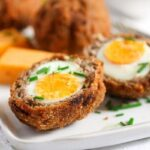 scotch eggs recipe 10 150x150 Classic Scotch Eggs Recipe – Fried, with Sausage and Herbs